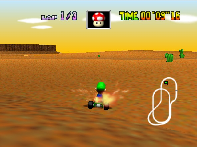 Mario Kart 64 - Fire fart! - User Screenshot